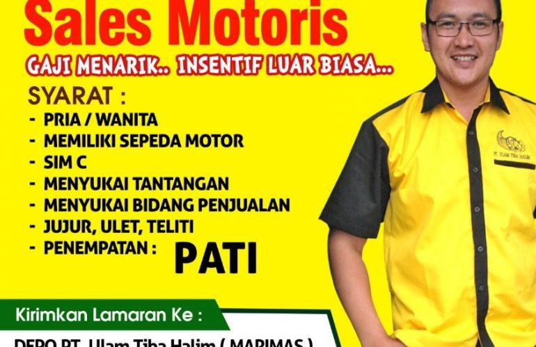 Lowongan Kerja  Sales Motoris Pati